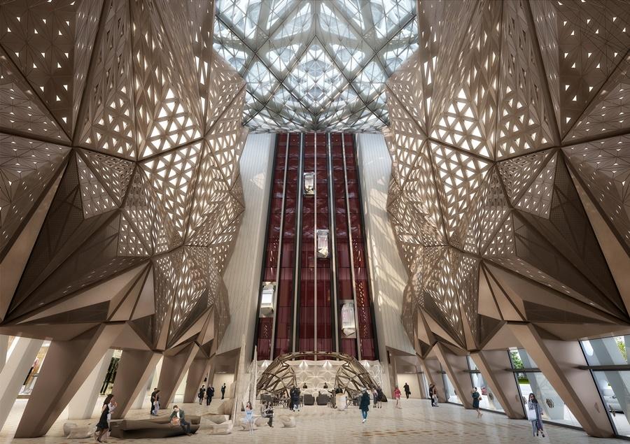 摩珀斯為全球首個採用自由形態外骨骼結構建成的摩天大樓