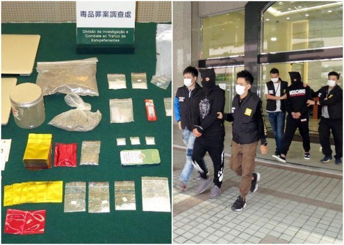 司警拘捕兩毒男並檢獲恰特草等多種毒品