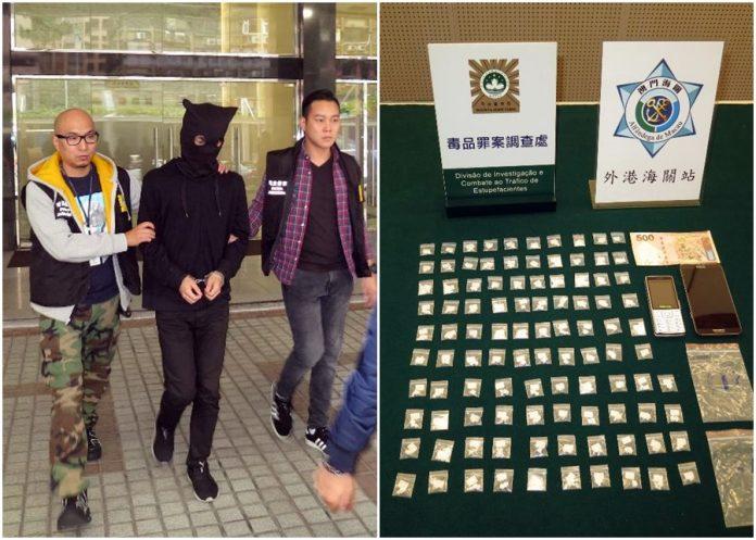 港15歲女學生涉販毒闖澳與接貨港漢同被捕