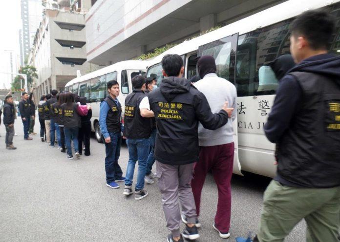 澳門司警聯同內地公安偵破龐大跨境地下錢莊合共逮捕37名男女