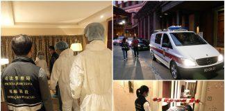 金沙城康萊德酒店男子倒斃現屍斑司警循兇殺調查帶走多袋證物