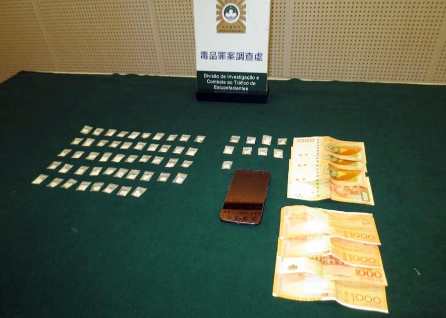 司警在行動中合共起出17.85克可卡因市值6萬澳門元