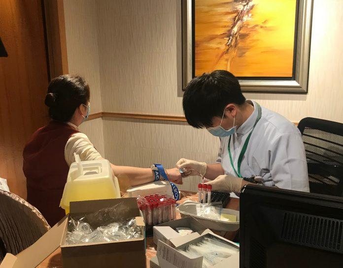 再有星際員工患德國麻疹 衞生局派護士為酒店懷孕員工驗血
