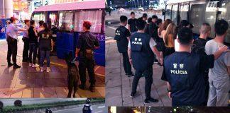 治安警反罪惡續巡查新口岸金光大道 拘27人涉換錢黨貴利賣淫