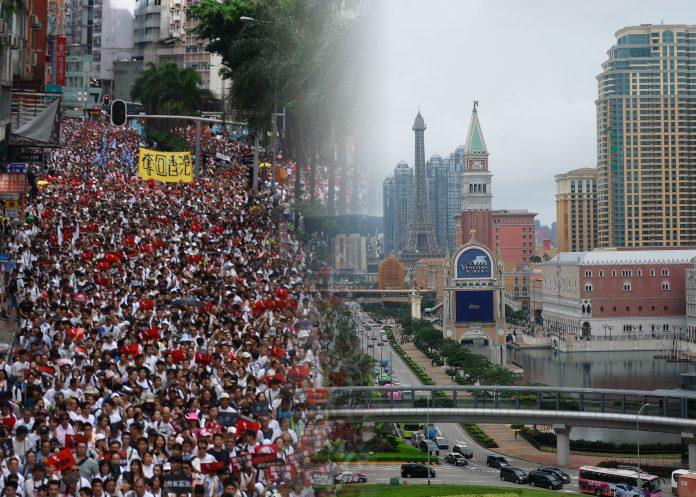 指修逃犯例衝擊香港金融業 林繼光:對澳門賭業影響較小