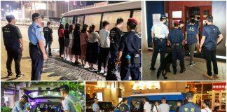 治安警聯同警犬組續反罪惡 19男女涉換錢黨放數賣淫帶署跟進