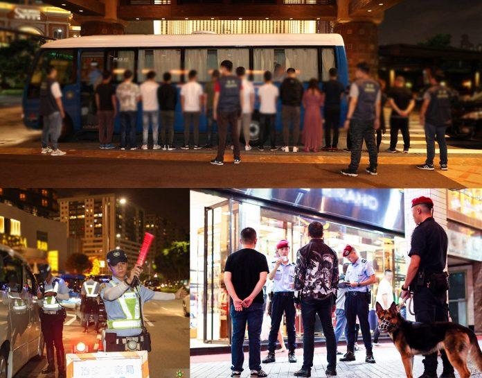 治安警持續新口岸金光大道巡查 拘36人涉換錢黨放貴利賣淫
