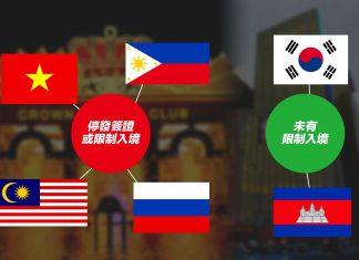 多個設有賭場國家防疫情波及限制中國人入境 柬國南韓無跟隨