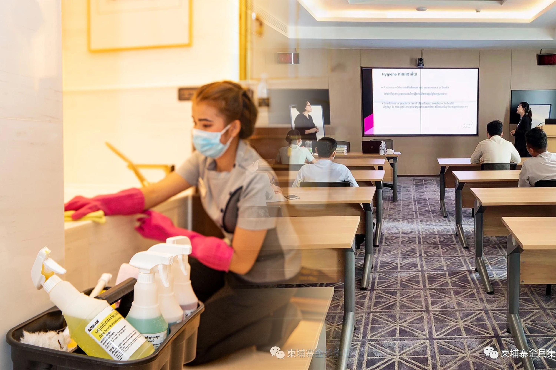 金貝集團,於日前獲柬國旅遊局頒發符合防疫標準的認證
