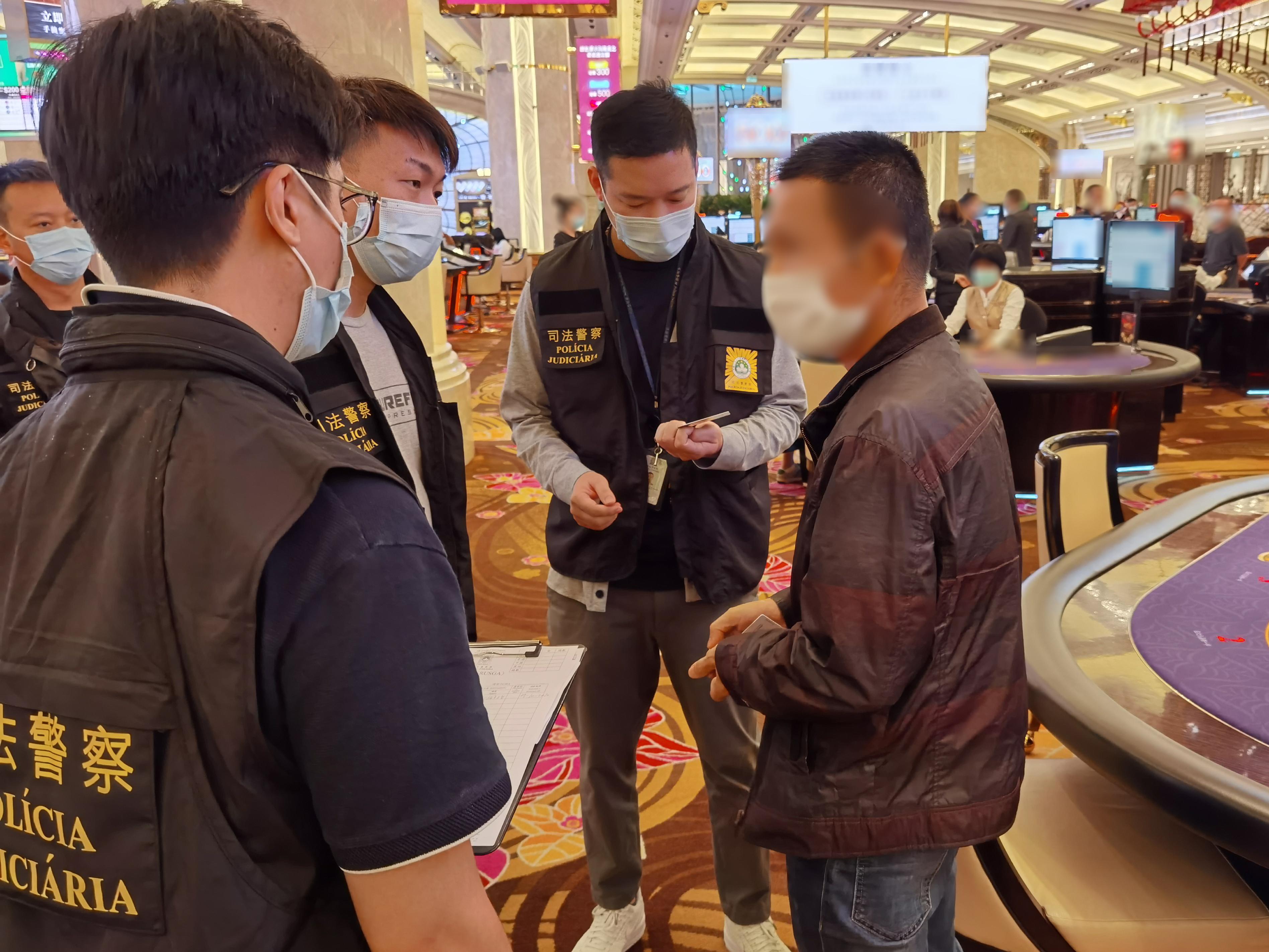 司警反罪惡行動路氹賭場逮7名內地「換錢黨」調查