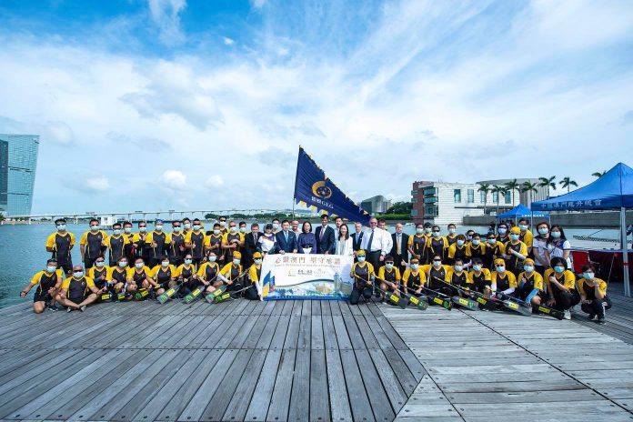 銀娛舉行龍舟下水祈福儀式 迎接「2021澳門國際龍舟賽」